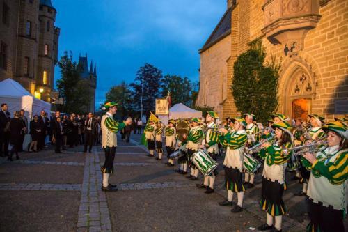 Burg Jubilaeum SMZ abends beim Konzert