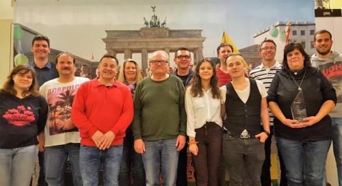 Jubilare 2017 vor Brandenburger Tor